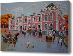 Картина Лефортово. Вдовий дом Братолюбивого общества
