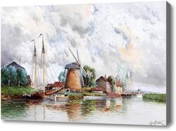 Картина Насосные Мельницы недалеко от Роттердама