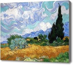 Купить картину Пшеничное поле с кипарисами