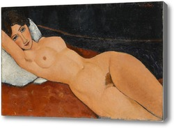 Картина Обнаженная, лежащая на белой подушке, 1917