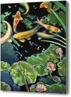Картина Пруд с рыбами