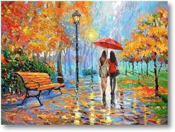 Купить картину Осенние беседы