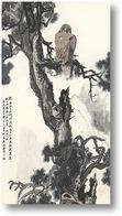 Картина Ястреб-тетеревятник на древних соснах