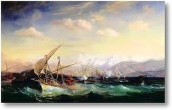 Картина Адмирал Андреа Дора рассеивает испанский флот близ Вара