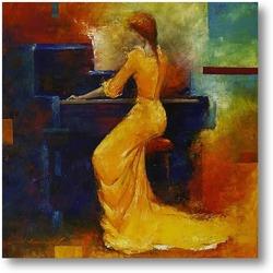 Картина Жёлтая пианистка