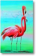 Картина Вечерние фламинго