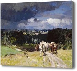 Картина Коровы на лугу