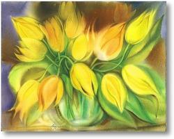 Картина жёлтые тюльпаны