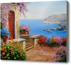 Картина Морское побережье Италии