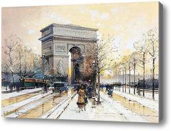 Купить картину Триумфальная арка в снегу