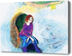 Картина Девушка в кресле