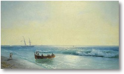 Картина Моряки, Идущие На берегу 1897