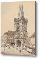 Картина Пороховая башня в Праге