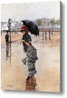 Картина В дождливый день на площаде Конкорд