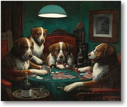 Картина Покер, 1894