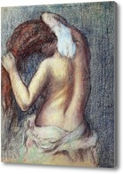 Картина Женщина за туалетом. ок.1895, Дега Эдгар