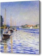 Картина Лодки на Сене
