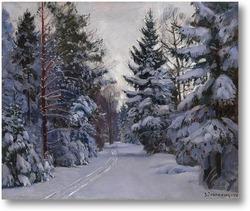 Купить картину Следы на снегу