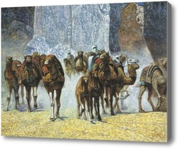 Картина Стадо верблюдов