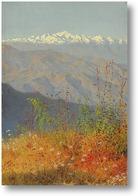 Картина Закат в Гималаях