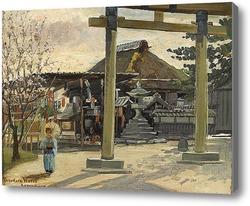 Картина Придорожная таверна, Камакура, Япония, 1895