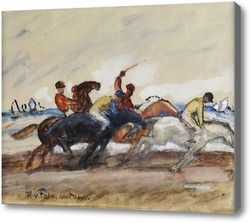 Картина Жокеи в гонке