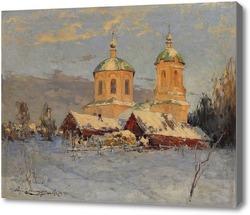 Картина Церковь в деревне
