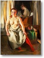 Купить картину Красный чулок [1914]