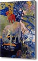 Картина Белая лошадь, 1898, Гоген