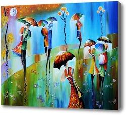 Картина Радуга дождя
