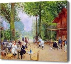 Картина Коттедж велосипедистов в Булонском лесу, Беро Жан