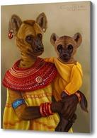 Картина Африканская семья (Гиены)