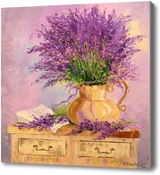 Картина Букет лаванды в вазе