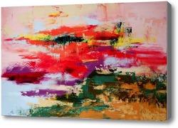 Картина Закат над заливом