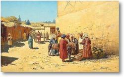 Картина Центральная Азия.Улиные торговцы