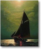 Картина Плаванье в море при свете луны