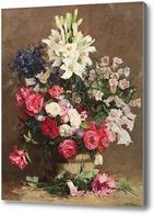 Картина Розы и лилии