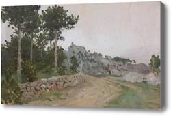 Картина Крым. Летние сумерки. Около 1886