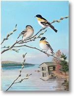 Картина Птицы весной