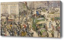 Картина Рождественские Покупатели, Мэдисон-Сквер, 1912