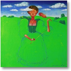 Картина Зелёная скрипачка