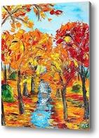 Картина Осенний лес