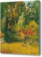 Картина Хижины под деревьями