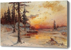 Картина Зимние сумерки