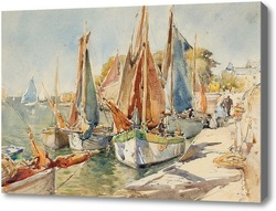 Картина Яхты в гавани, Робинсон Флоренс