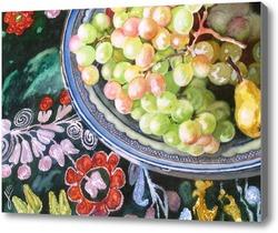 Картина Виноград на блюде