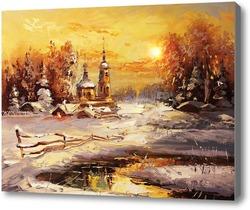 Купить картину Русская зима