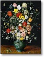 Картина Букет цветов в голубой вазе