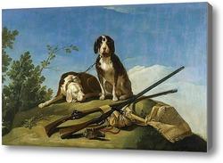 Картина Собаки на привязи