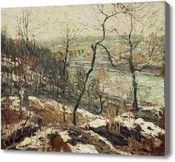 Картина Пейзаж возле реки Гарлем